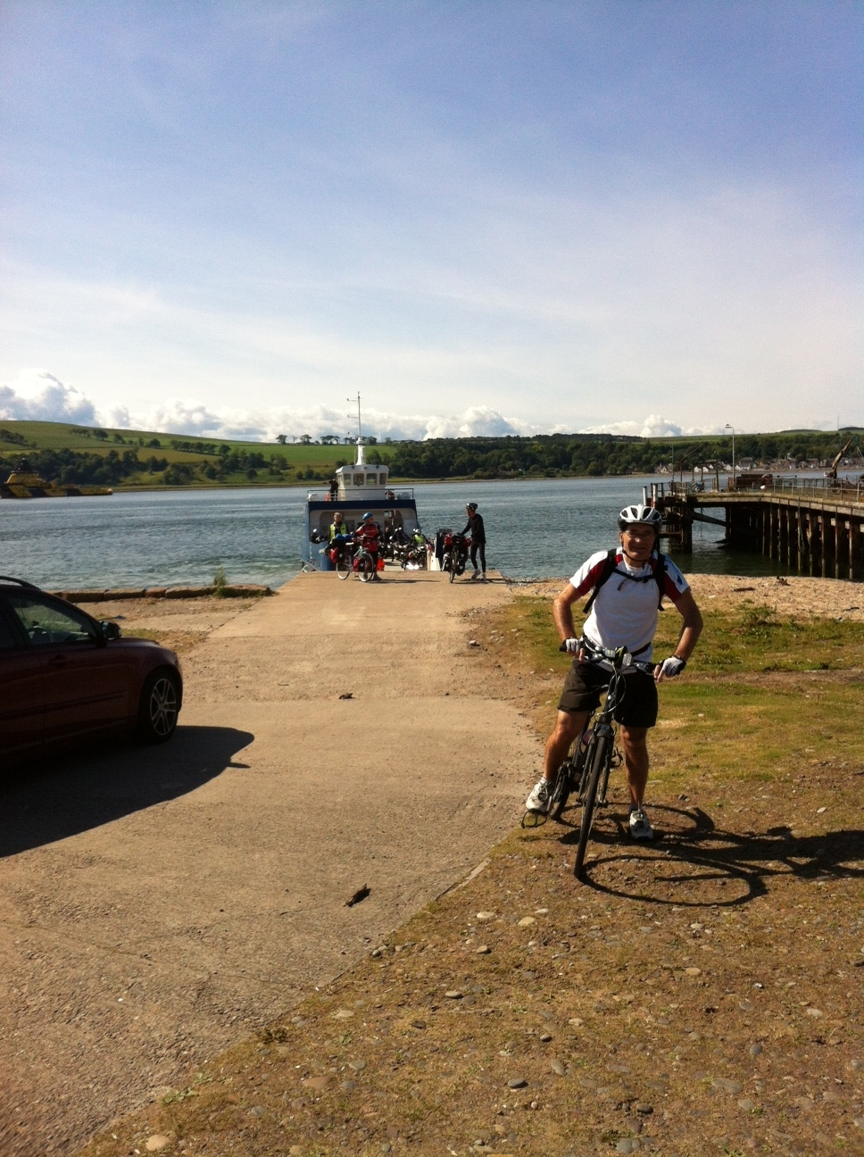 Paul coming off the Nigg Ferry.