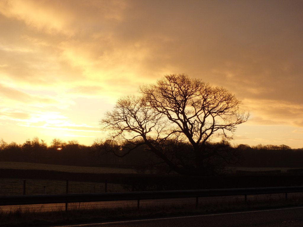 Sunrise on the way to Kendal
