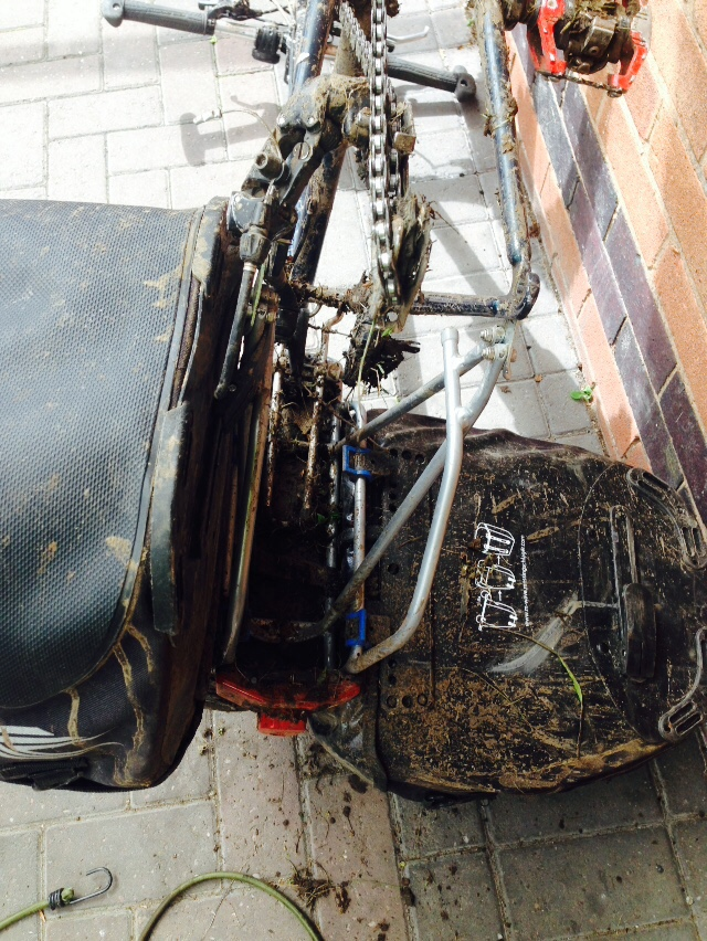 The rear of my bike was quite a mess....