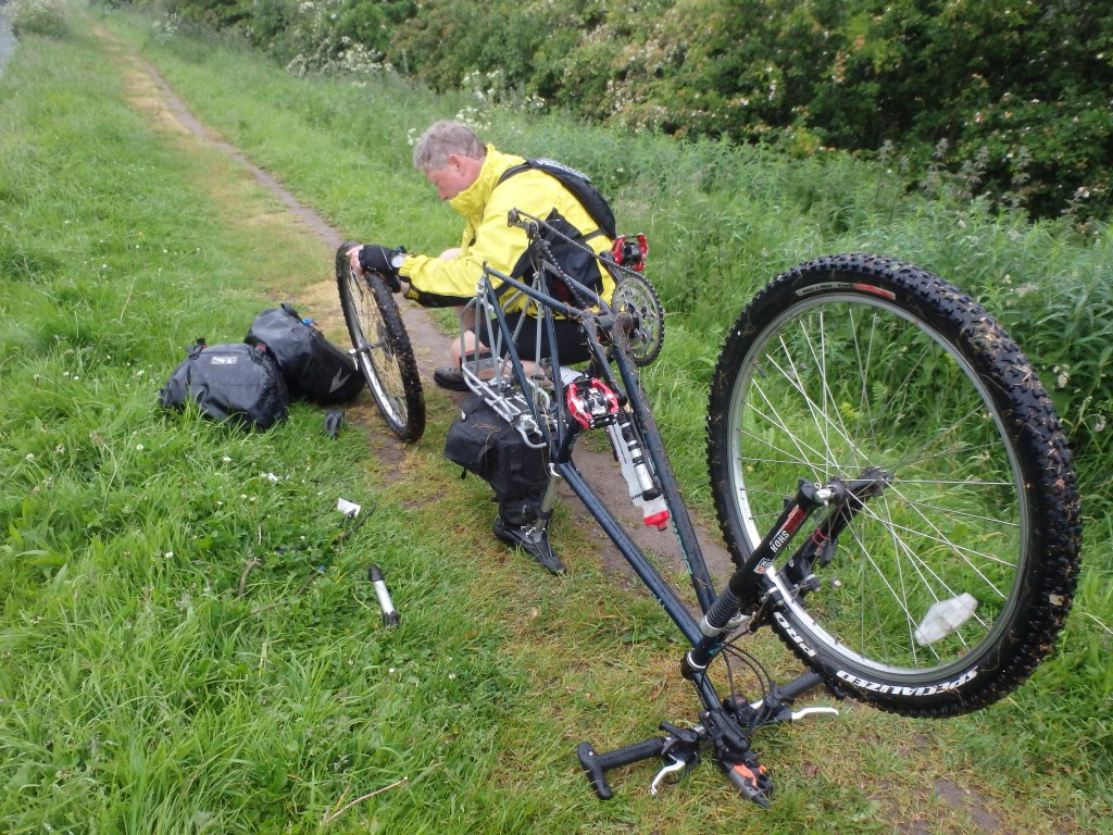 Another puncture... It was pouring down and very cold