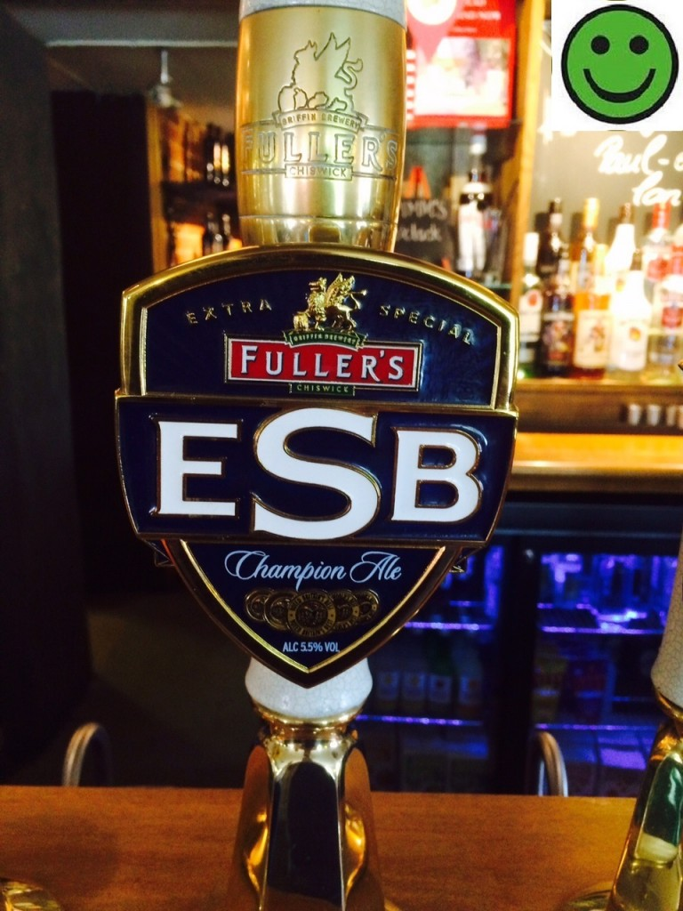 ESB 5.5% ABV Fullers Brewery. The Mill Elstead Saturday 1 August 2015