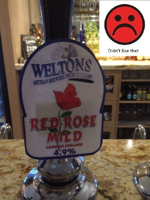 Red Rose Mild: 4.9% ABV: Weltons Brewery