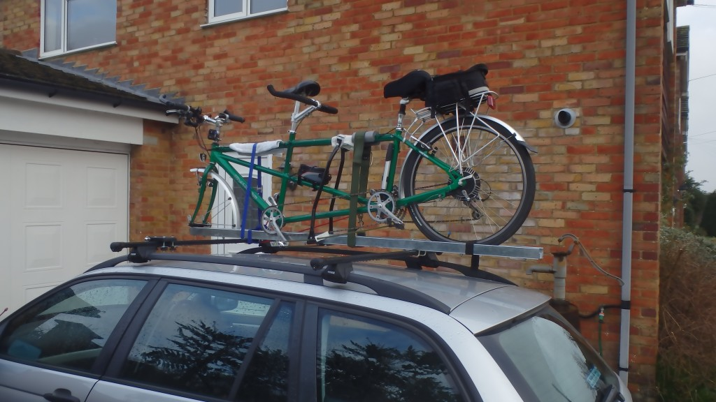 Tandem VERY securely tied down